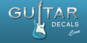 Homepage Guitar Headstock Logo Decals